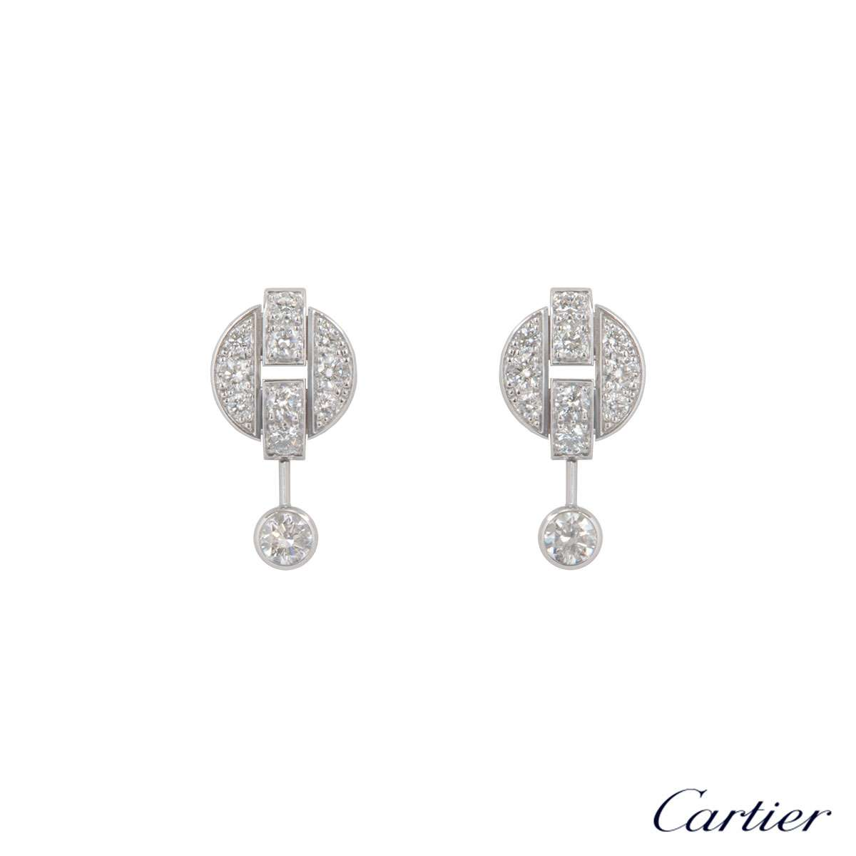 Cartier White Gold Himalia Diamond Earrings